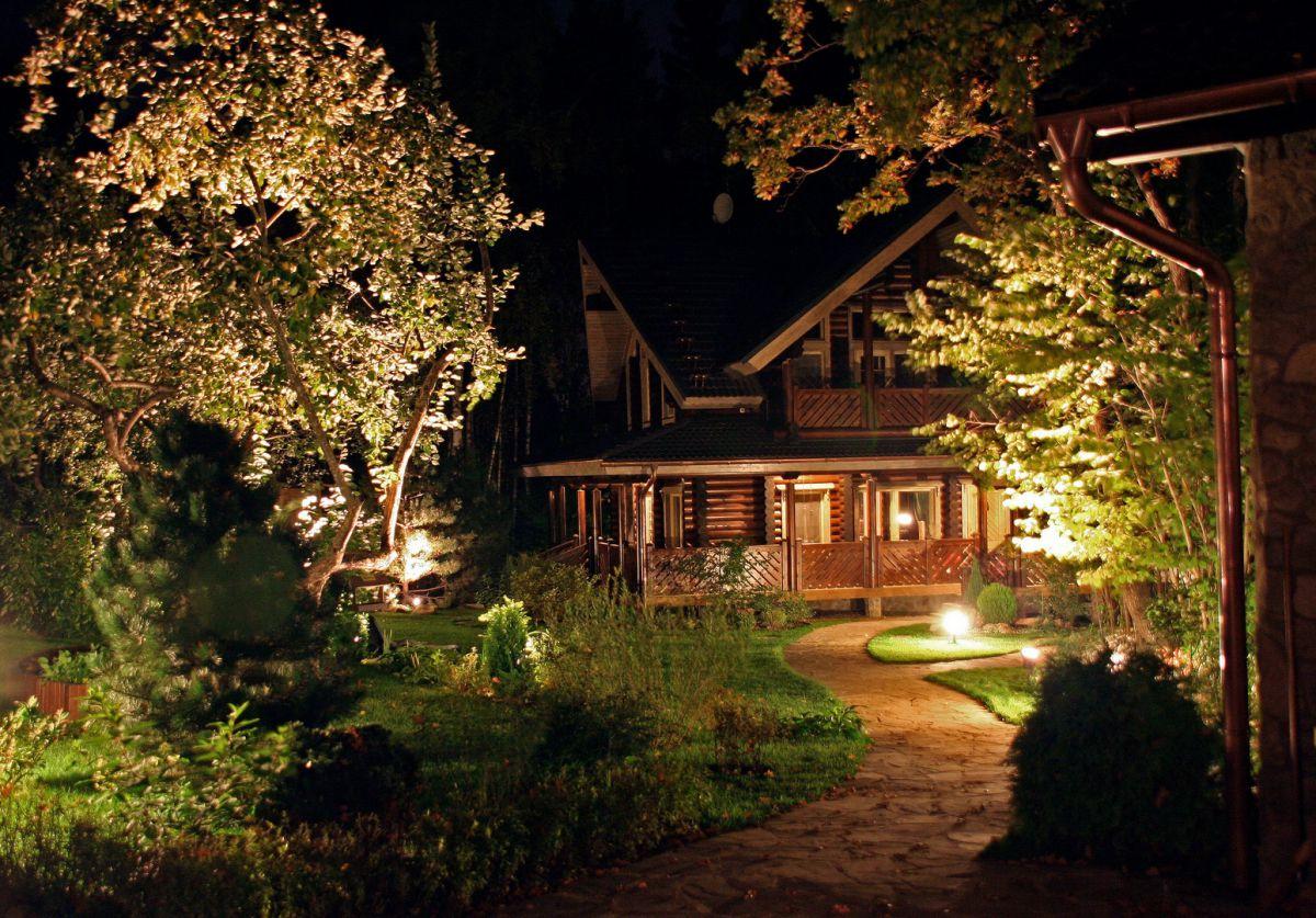 Загородный дом. Освещение внутри и снаружи 4466