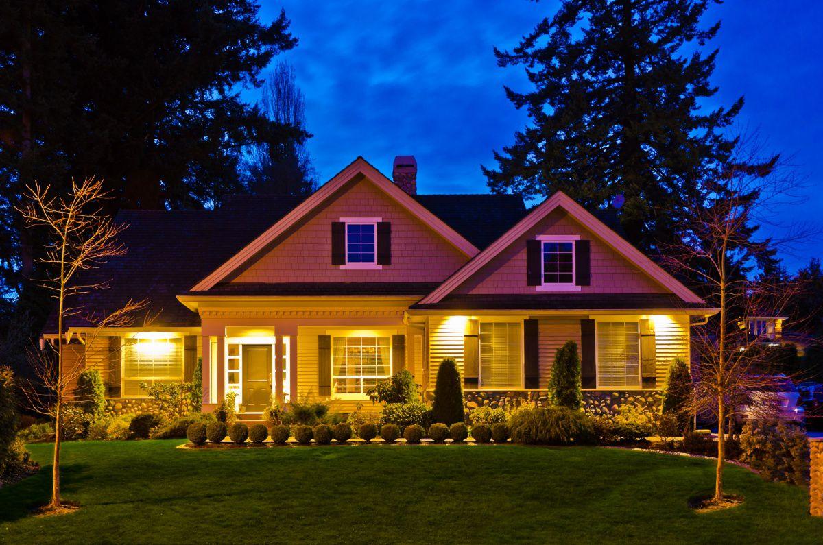 Загородный дом. Освещение внутри и снаружи 4467