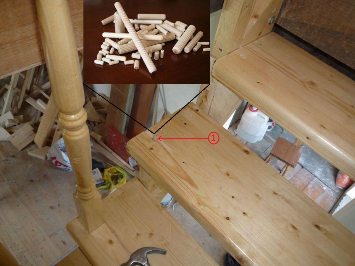 Какая стоимость работ по монтажу балясин и перил лестницы