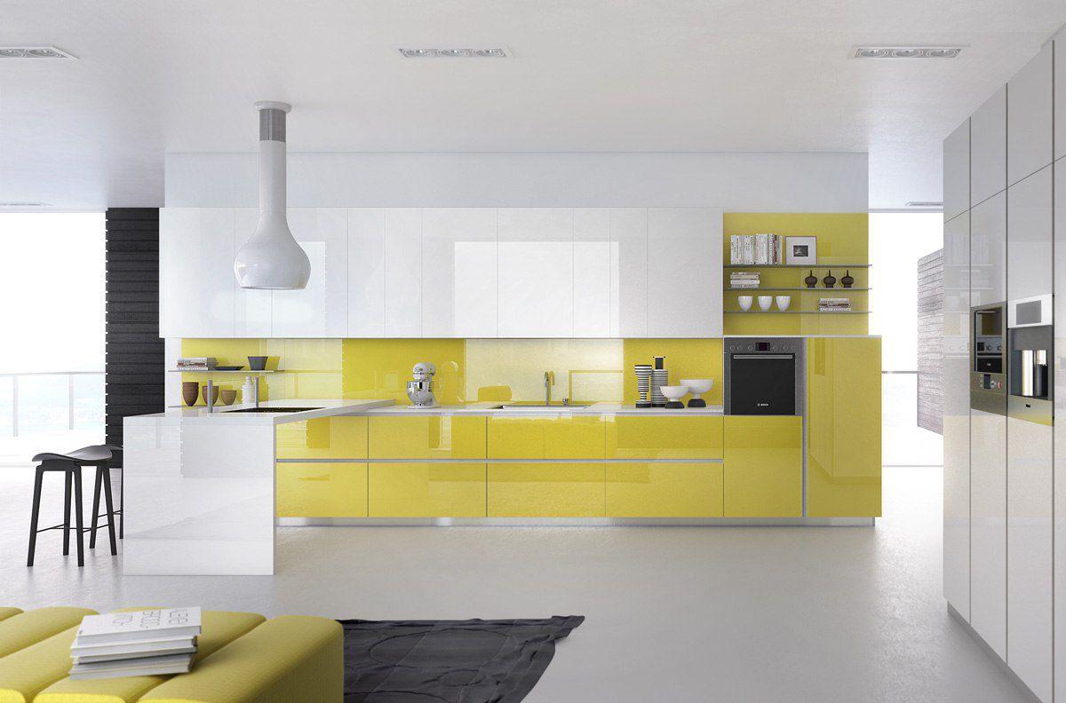 В интерьере - желтый цвет. Прихожая, ванная, гостиная, кухня в желтом 4512