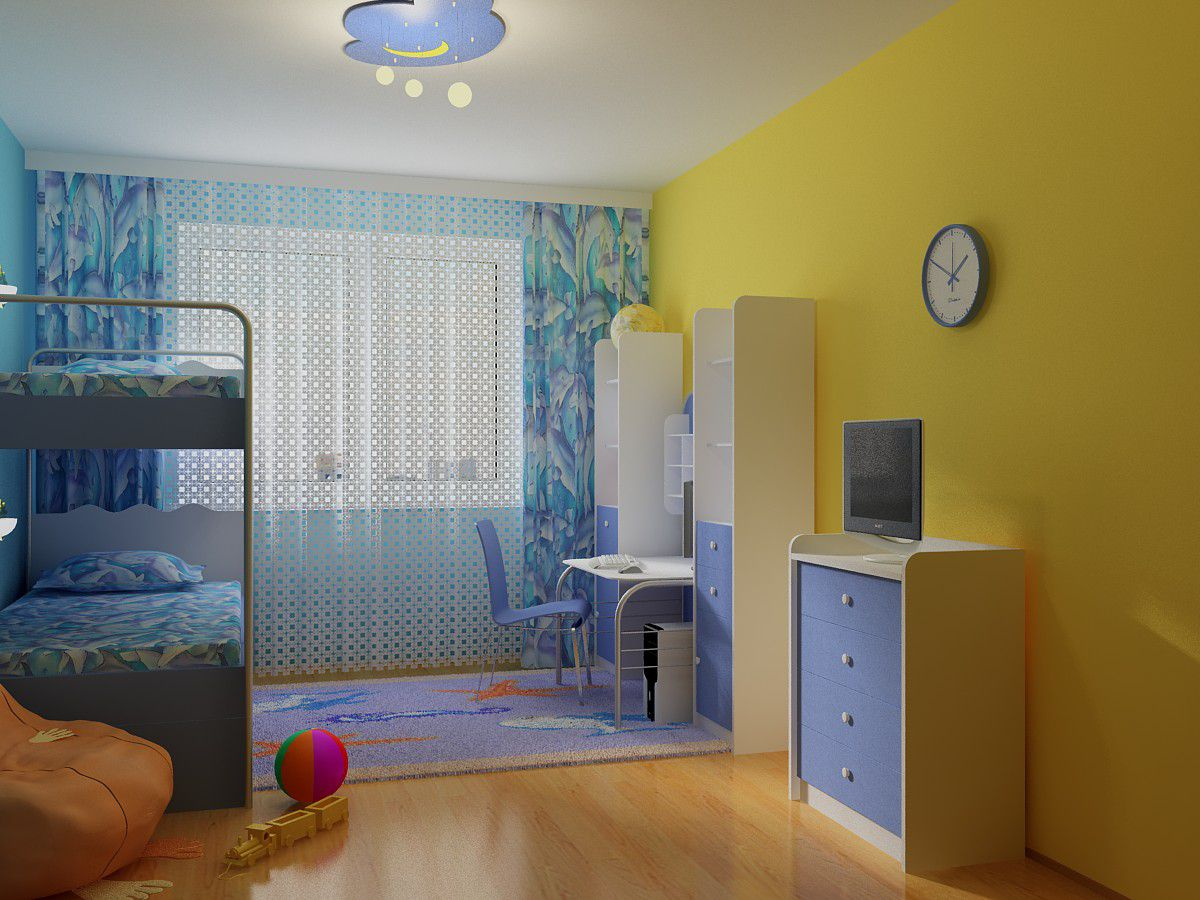 В интерьере - желтый цвет. Прихожая, ванная, гостиная, кухня в желтом 4513