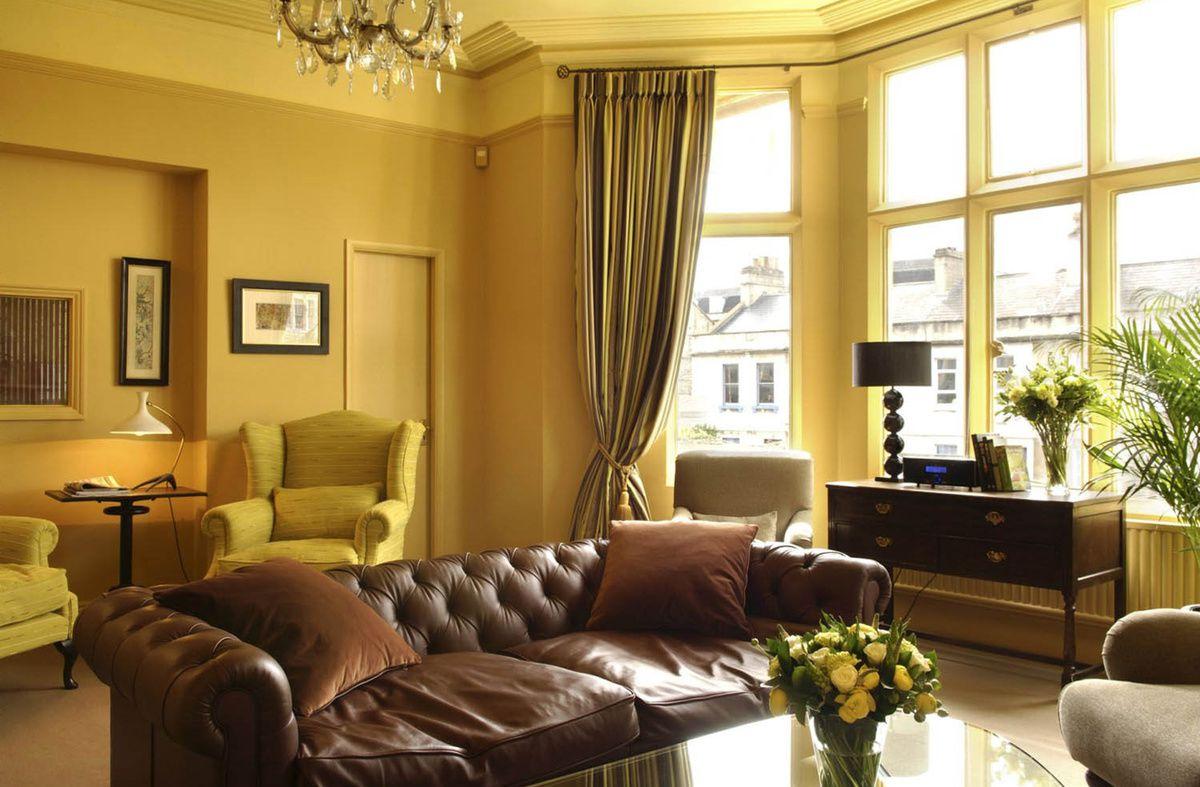 В интерьере - желтый цвет. Прихожая, ванная, гостиная, кухня в желтом 4518