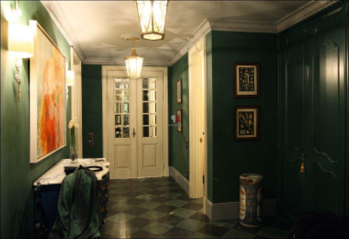 В интерьере - желтый цвет. Прихожая, ванная, гостиная, кухня в желтом 4520