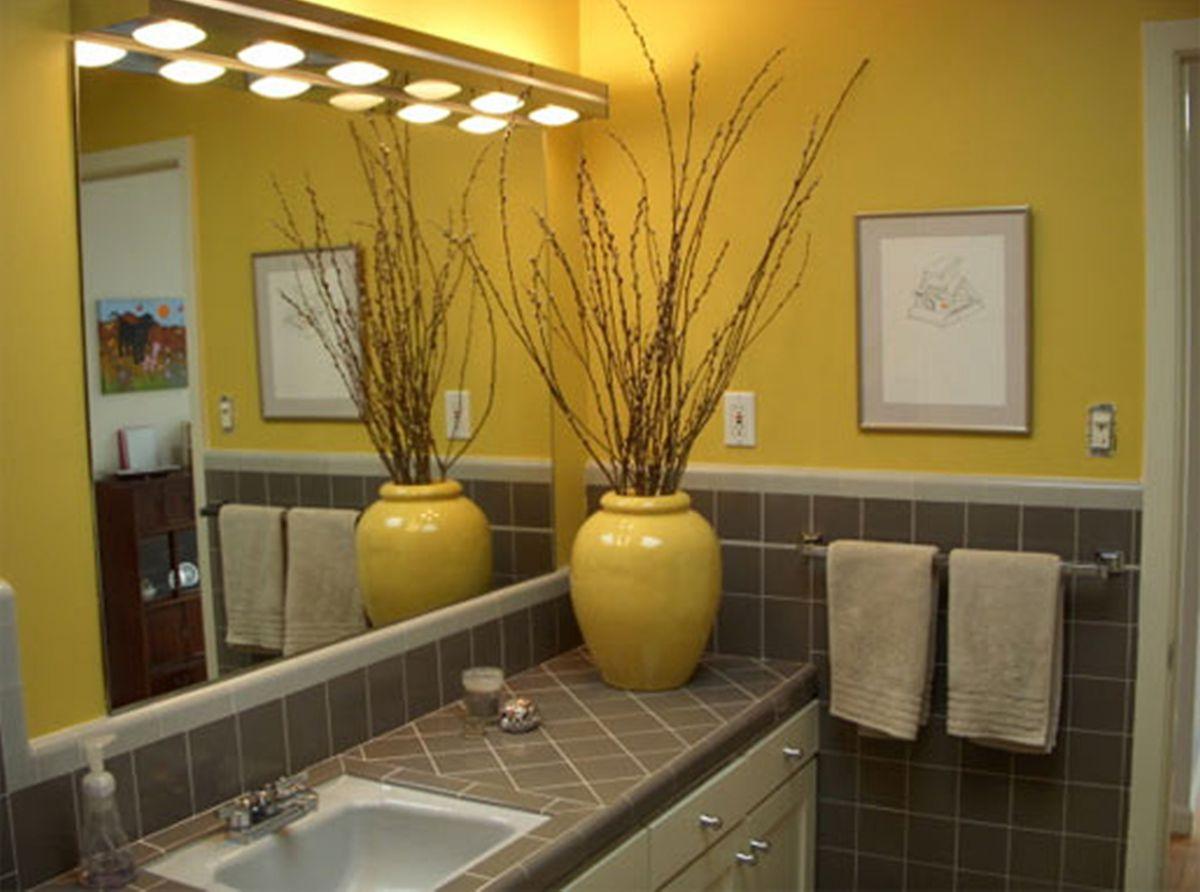 В интерьере - желтый цвет. Прихожая, ванная, гостиная, кухня в желтом 4521
