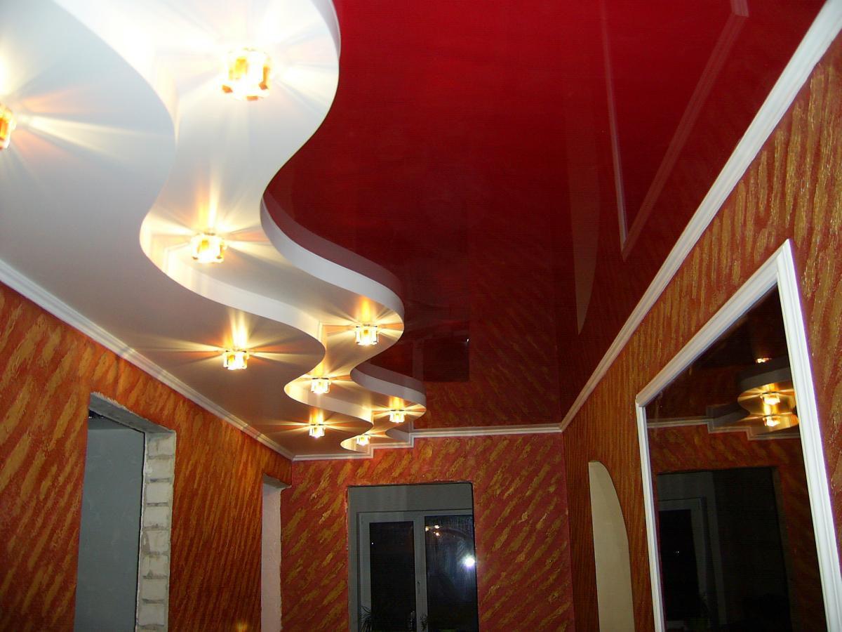 Потолки современной квартиры. Подвесные модульные конструкции, обшивка потолка. Натяжные потолки 4636