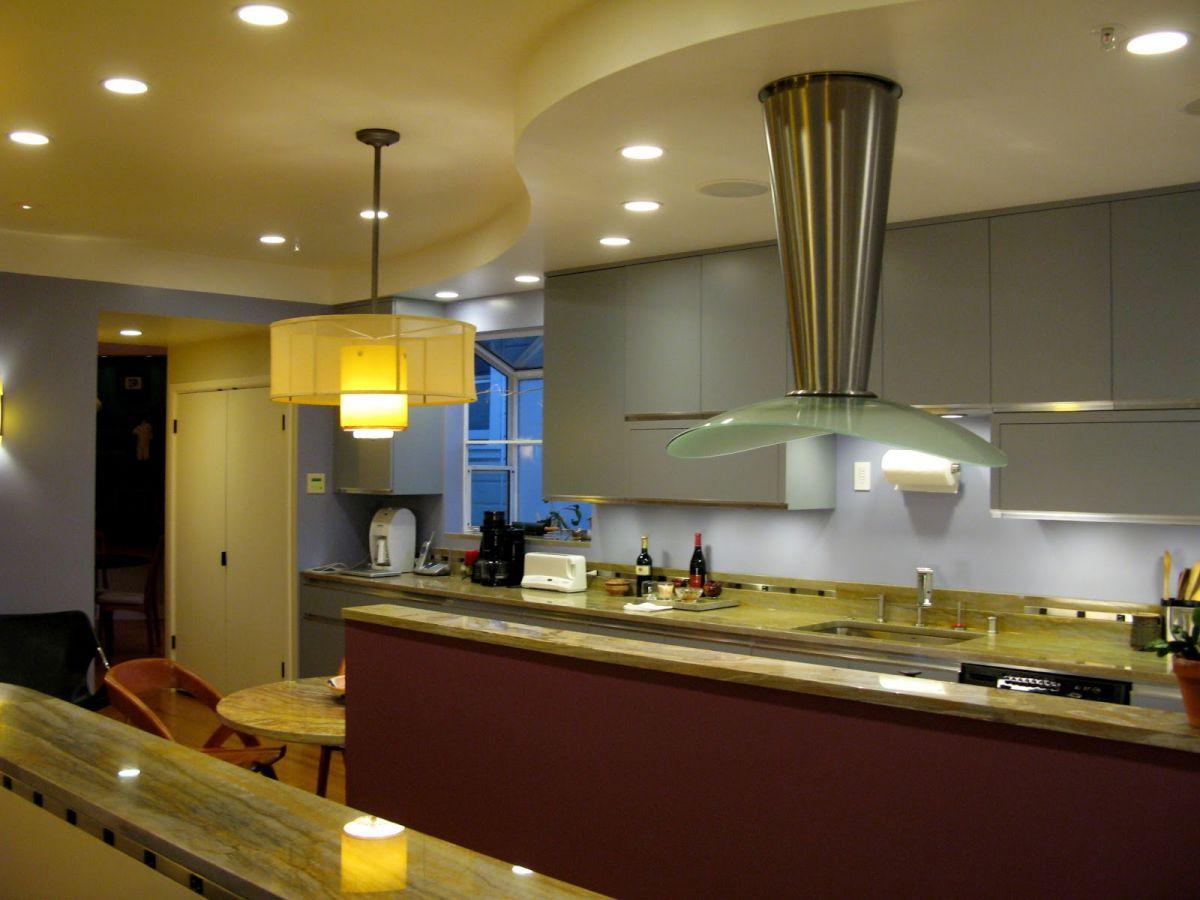 Современная кухня. Организация освещения и декор 4644