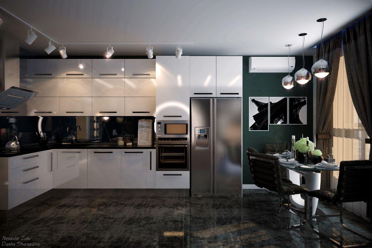 Современная кухня. Организация освещения и декор 4649