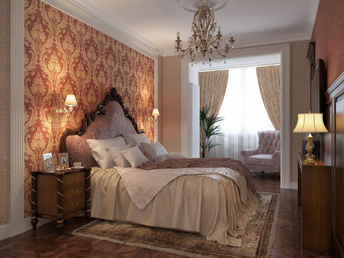 Выбор обоев для спальни. Фактуры, цвета, стили и нюансы  4796