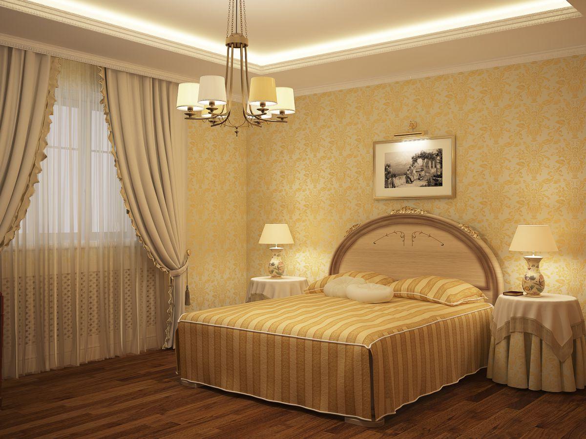 Выбор обоев для спальни. Фактуры, цвета, стили и нюансы  4799