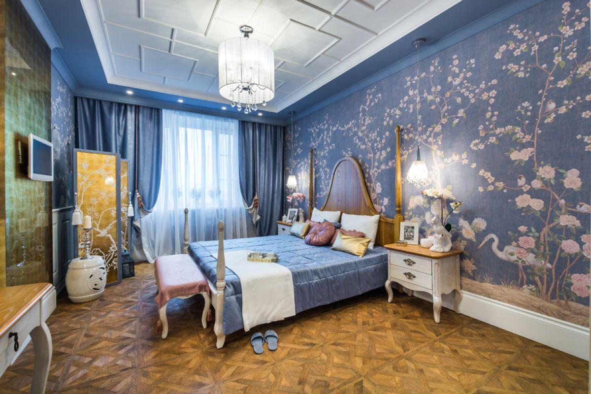 Выбор обоев для спальни. Фактуры, цвета, стили и нюансы  4800