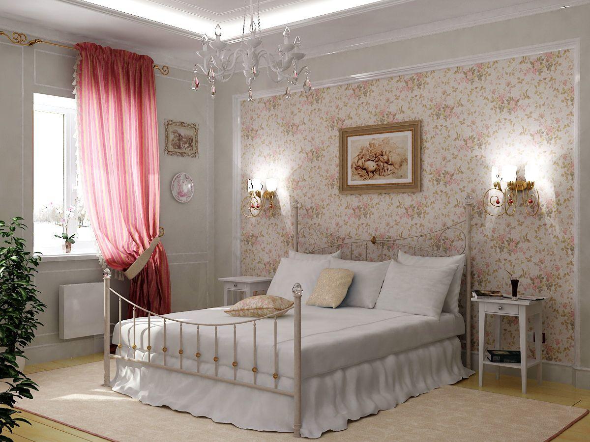 Выбор обоев для спальни. Фактуры, цвета, стили и нюансы  4805