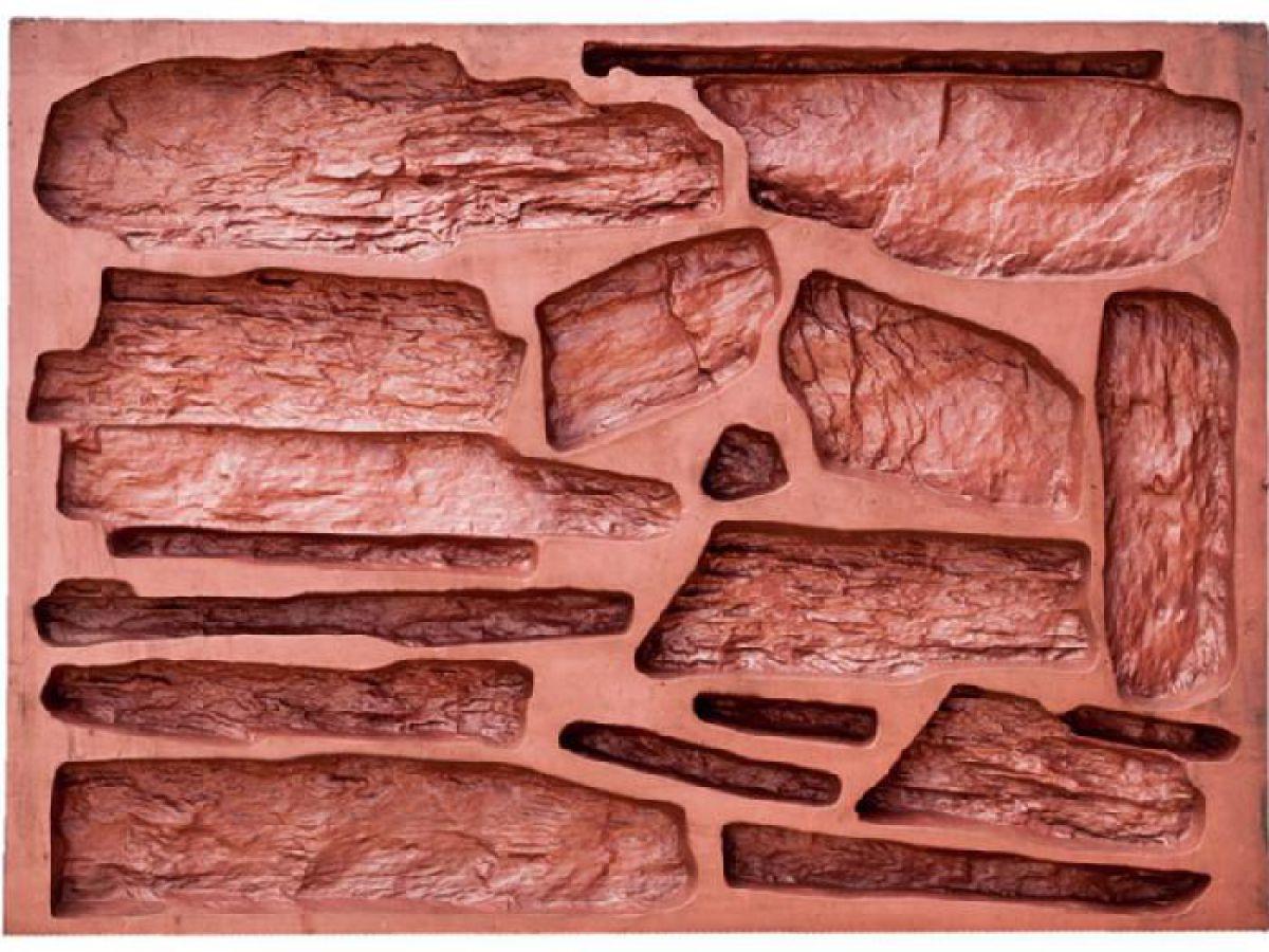 Отделка искусственным камнем, сделанным своими руками. Изготовление форм-матриц  4813