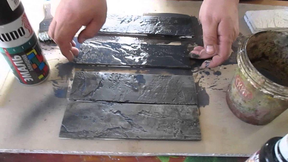 Отделка искусственным камнем, сделанным своими руками. Изготовление камня в домашних условиях 4836