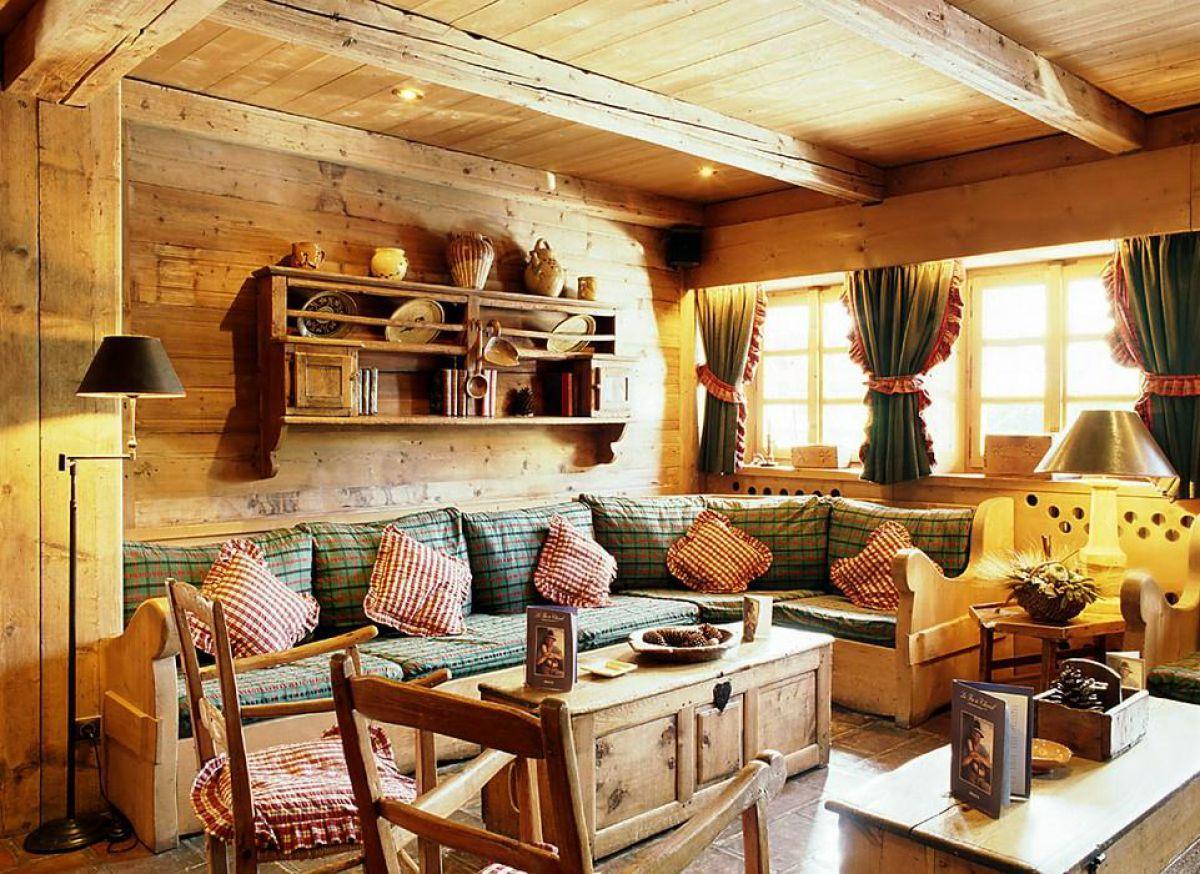 Дизайн в стиле кантри для загородного дома - романтика деревенского стиля и комфорт  4843