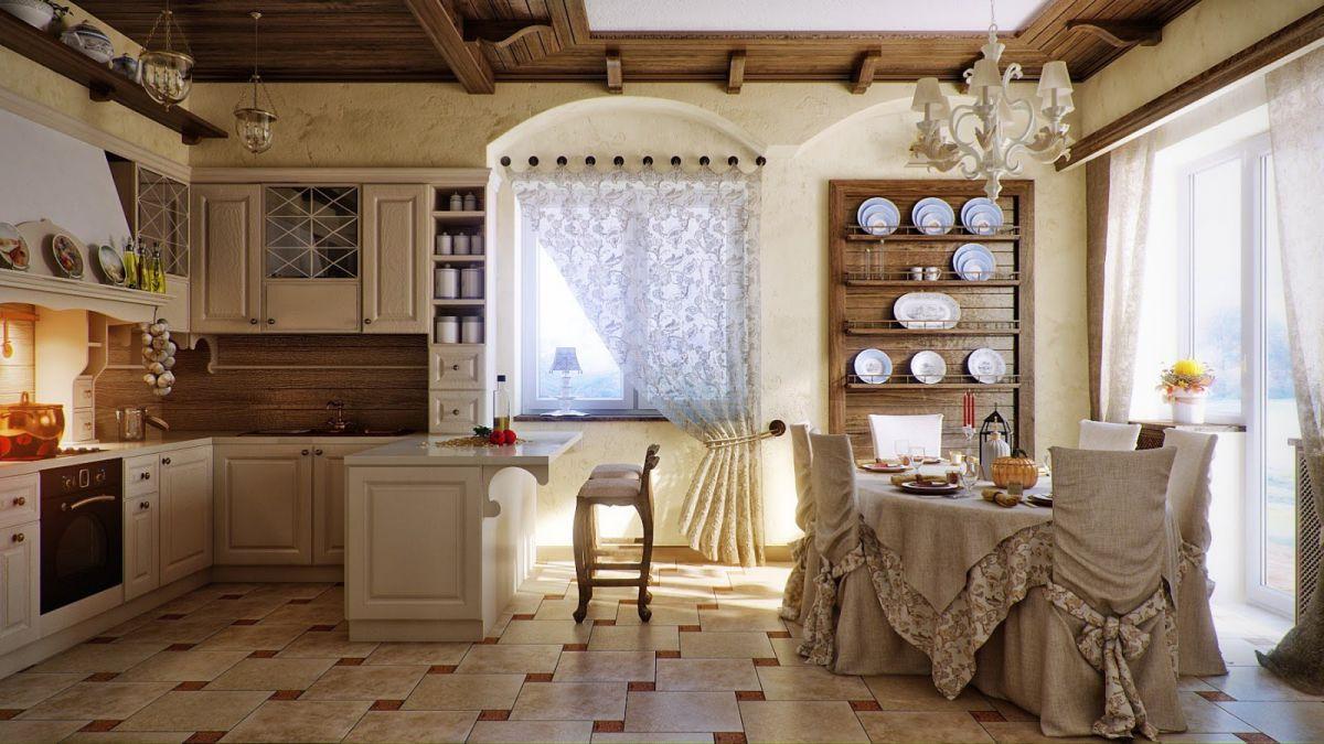 Дизайн в стиле кантри для загородного дома - романтика деревенского стиля и комфорт  4845