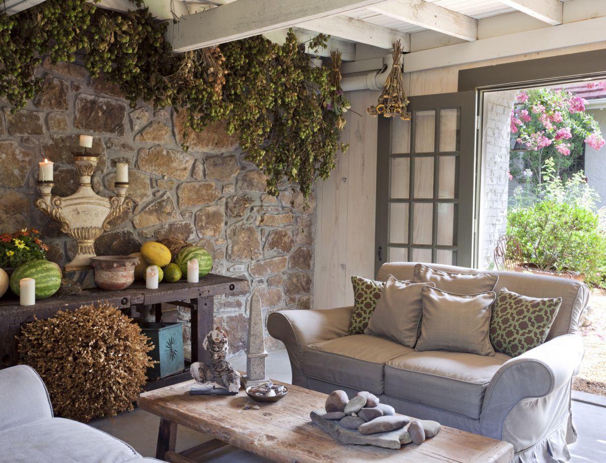 Дизайн в стиле кантри для загородного дома - романтика деревенского стиля и комфорт  4847