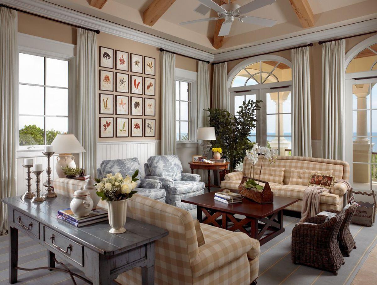 Дизайн в стиле кантри для загородного дома - романтика деревенского стиля и комфорт  4849