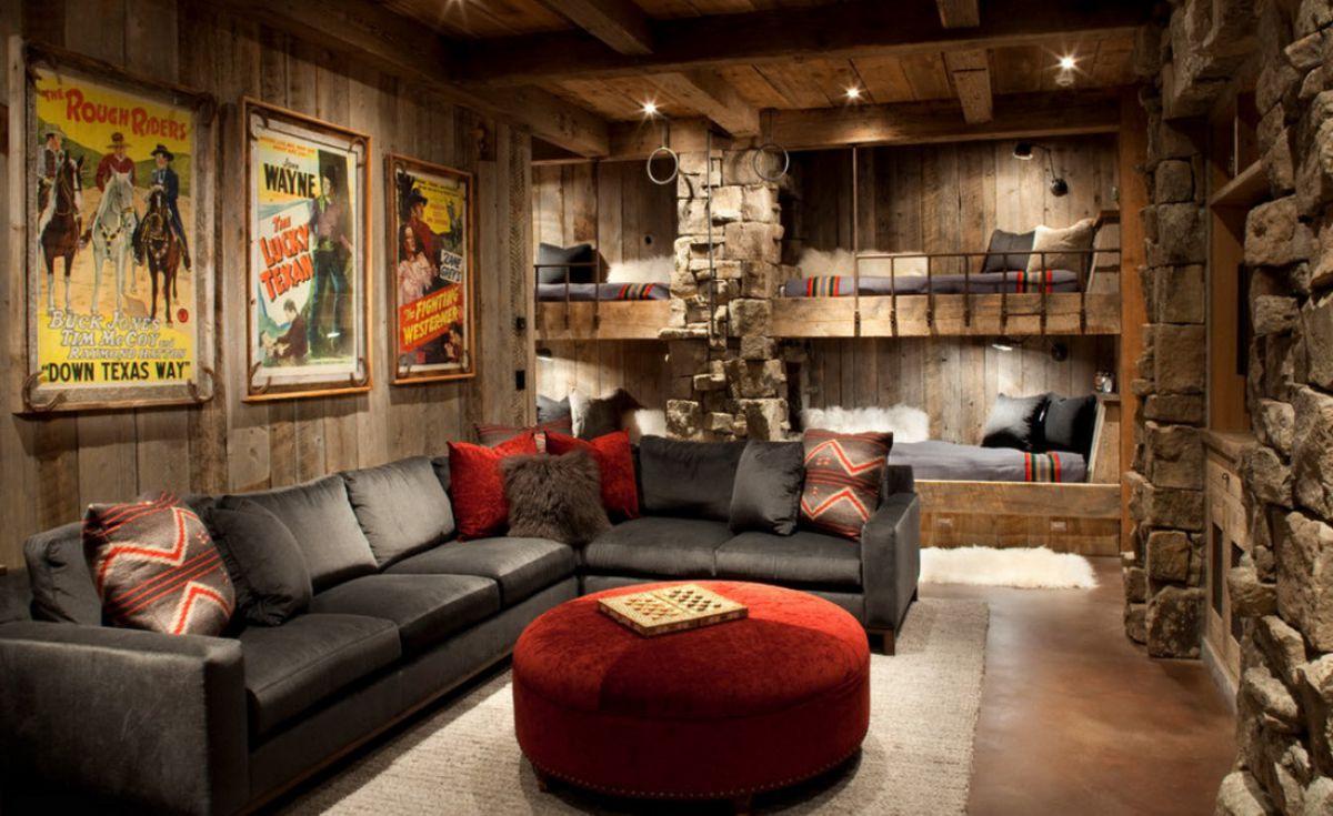Дизайн в стиле кантри для загородного дома - романтика деревенского стиля и комфорт  4850