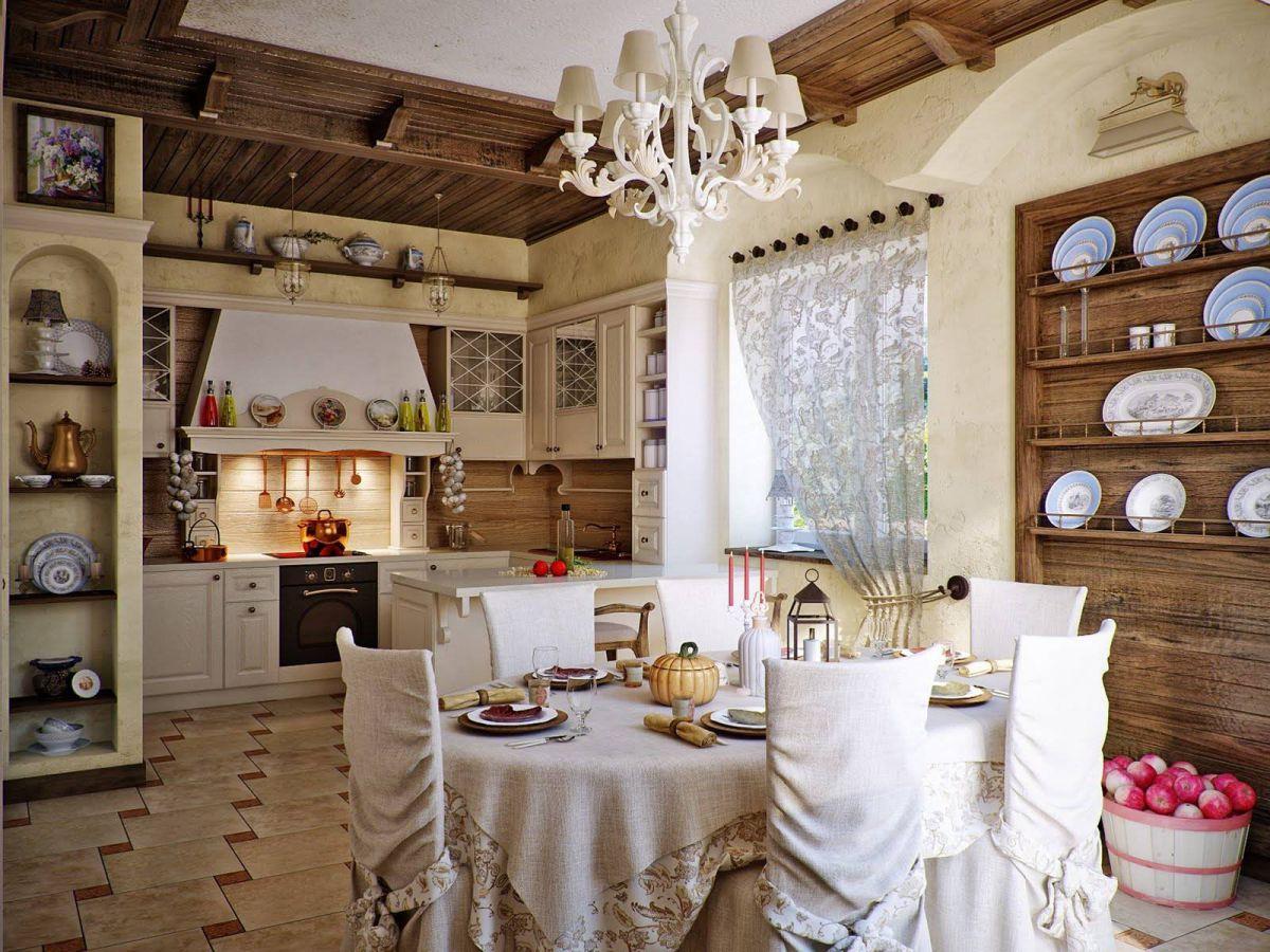 Дизайн в стиле кантри для загородного дома - романтика деревенского стиля и комфорт  4851