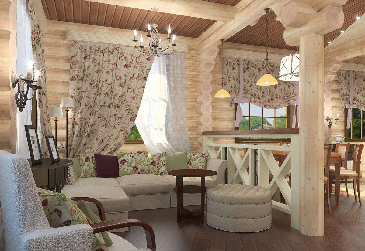 Дизайн в стиле кантри для загородного дома - романтика деревенского стиля и комфорт  4853