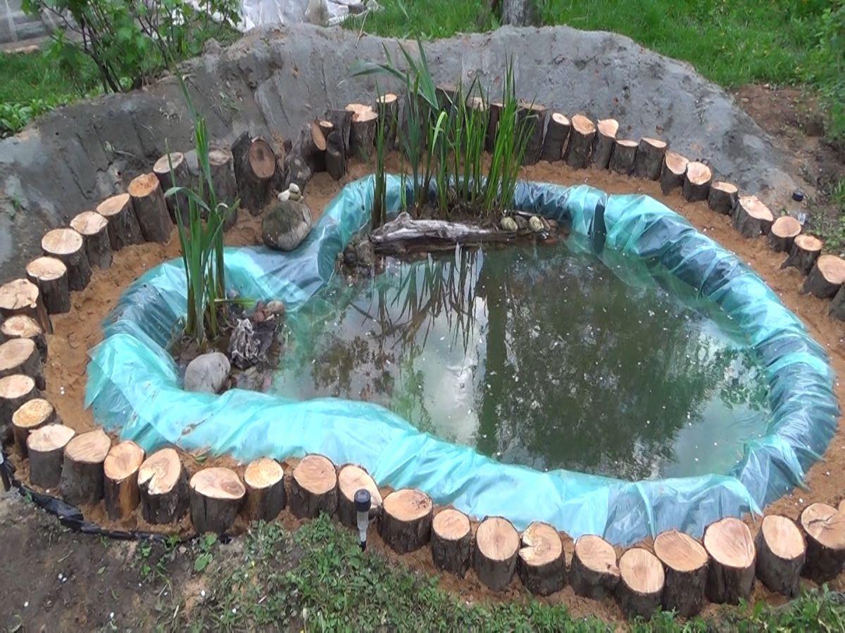 Загородный дом и лето. Водоем, водопад, декоративная мельница 4955