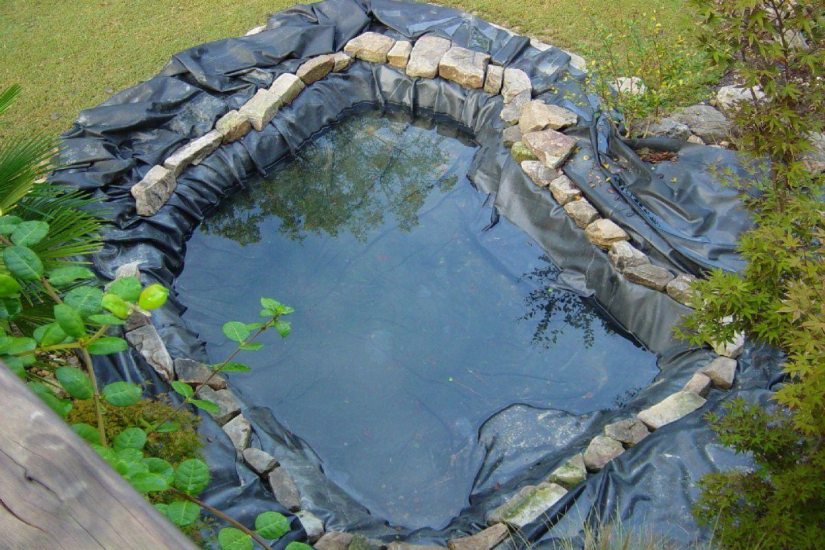 Загородный дом и лето. Водоем, водопад, декоративная мельница 4957