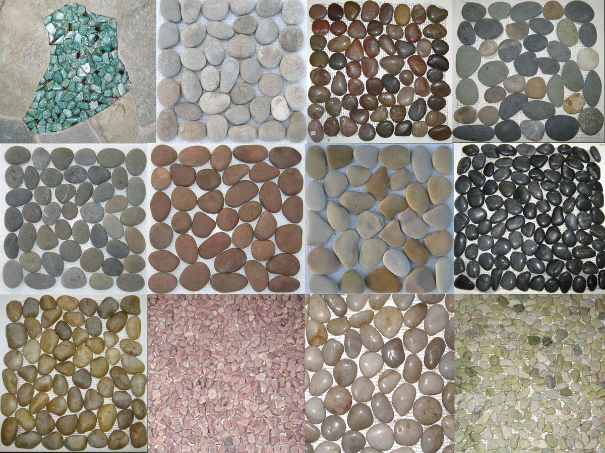 Галечная мозаичная плитка 5043