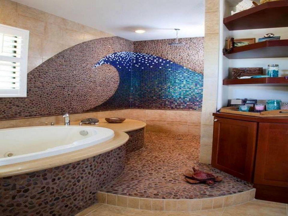 Галечная мозаичная плитка 5044