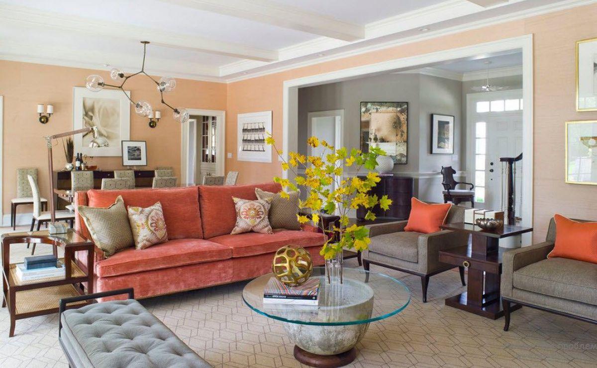 Персиковый цвет в интерьере 5088