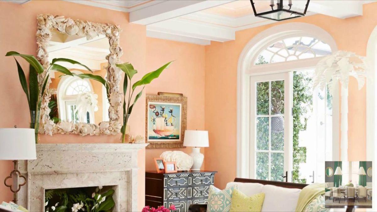 Персиковый цвет в интерьере 5091