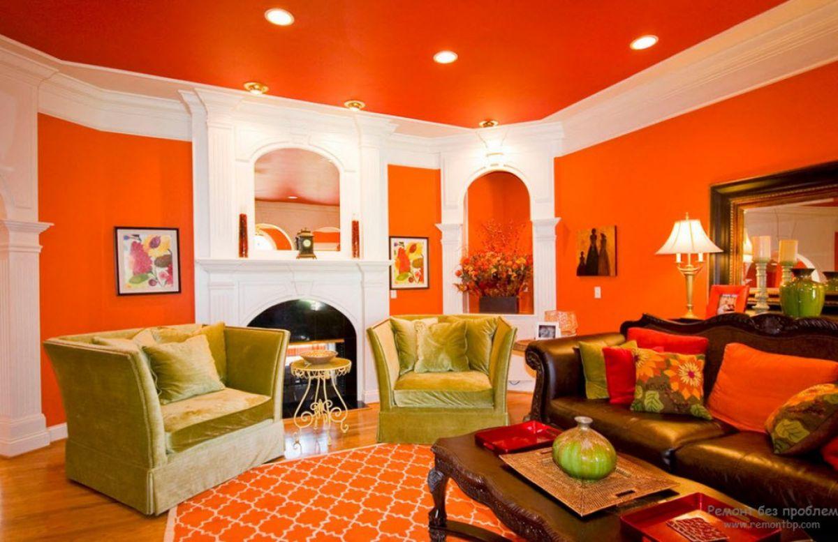 Персиковый цвет в интерьере 5092