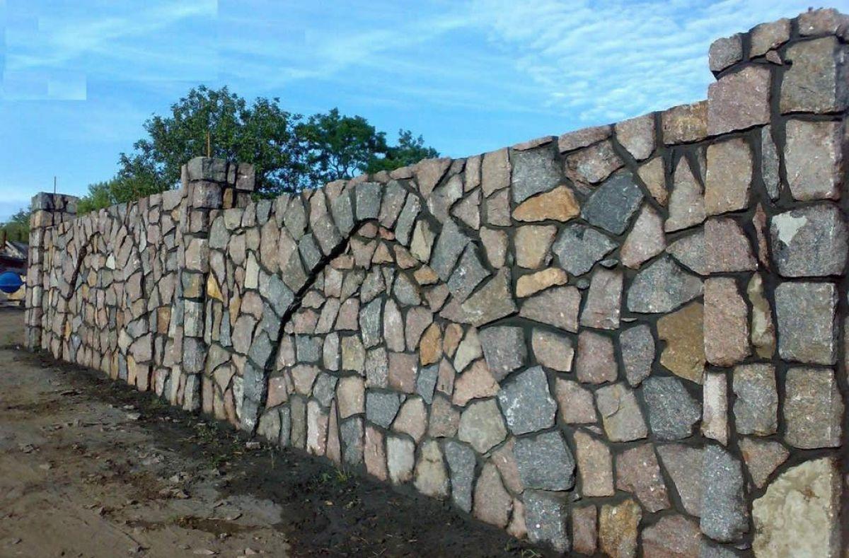 Заборы из камня 5267