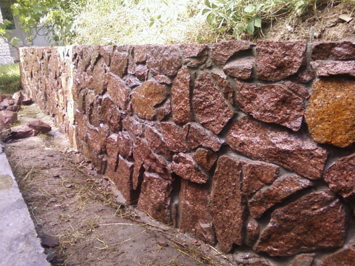 Заборы из камня 5277