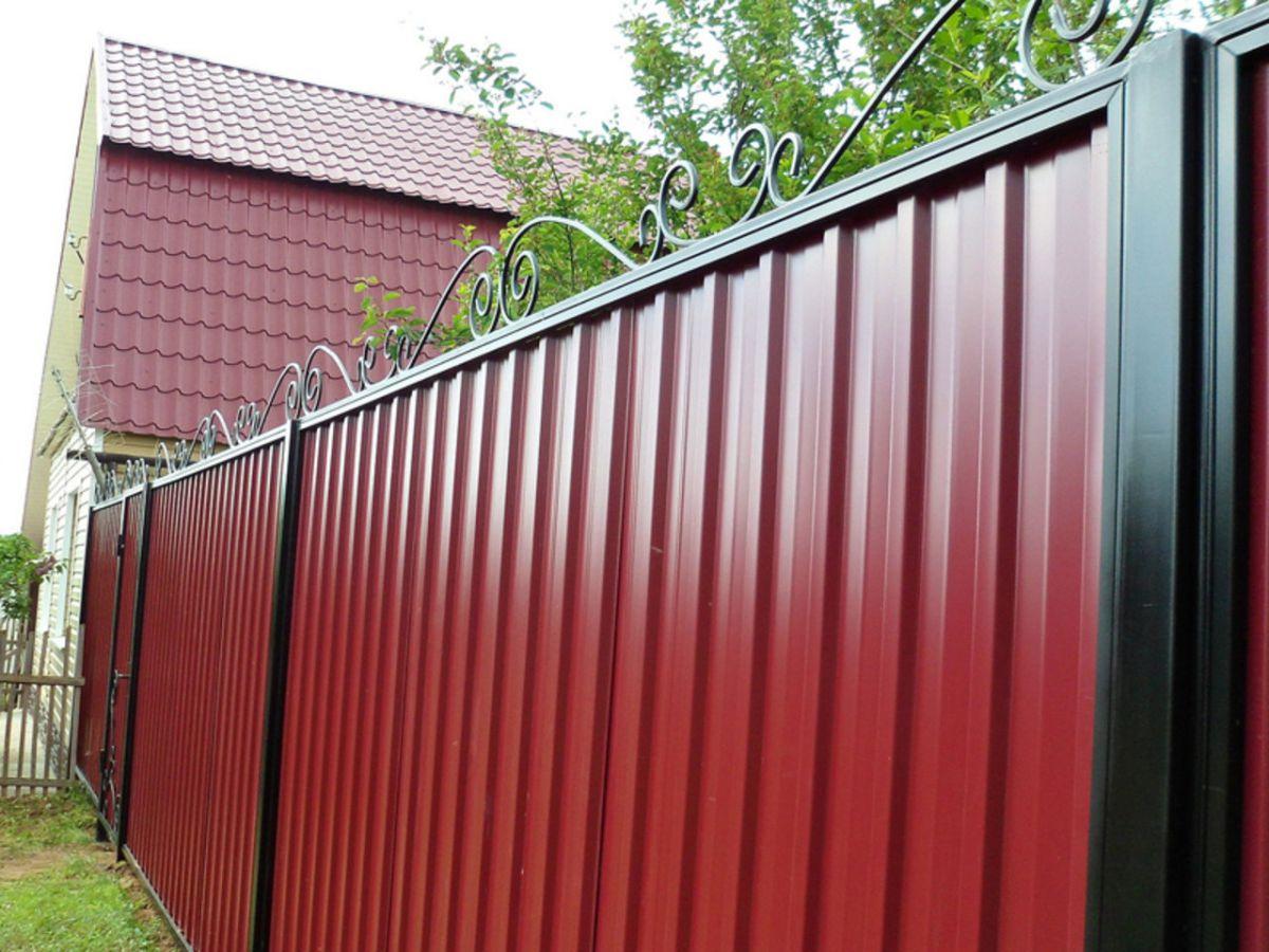 Забор из профнастила 5278