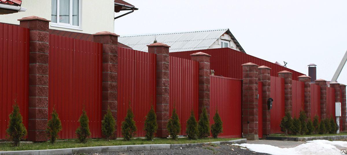 Забор из профнастила 5279