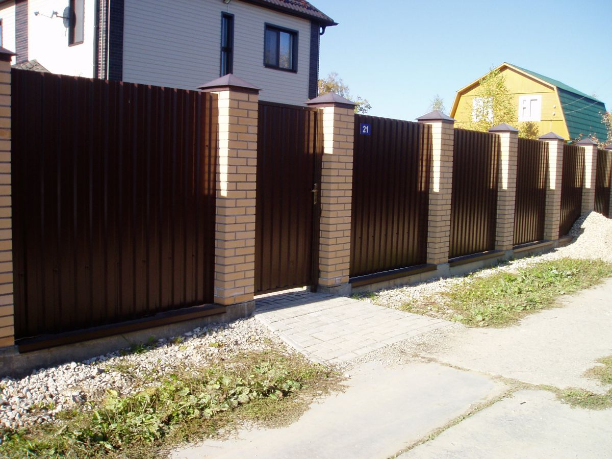 Забор из профнастила 5287