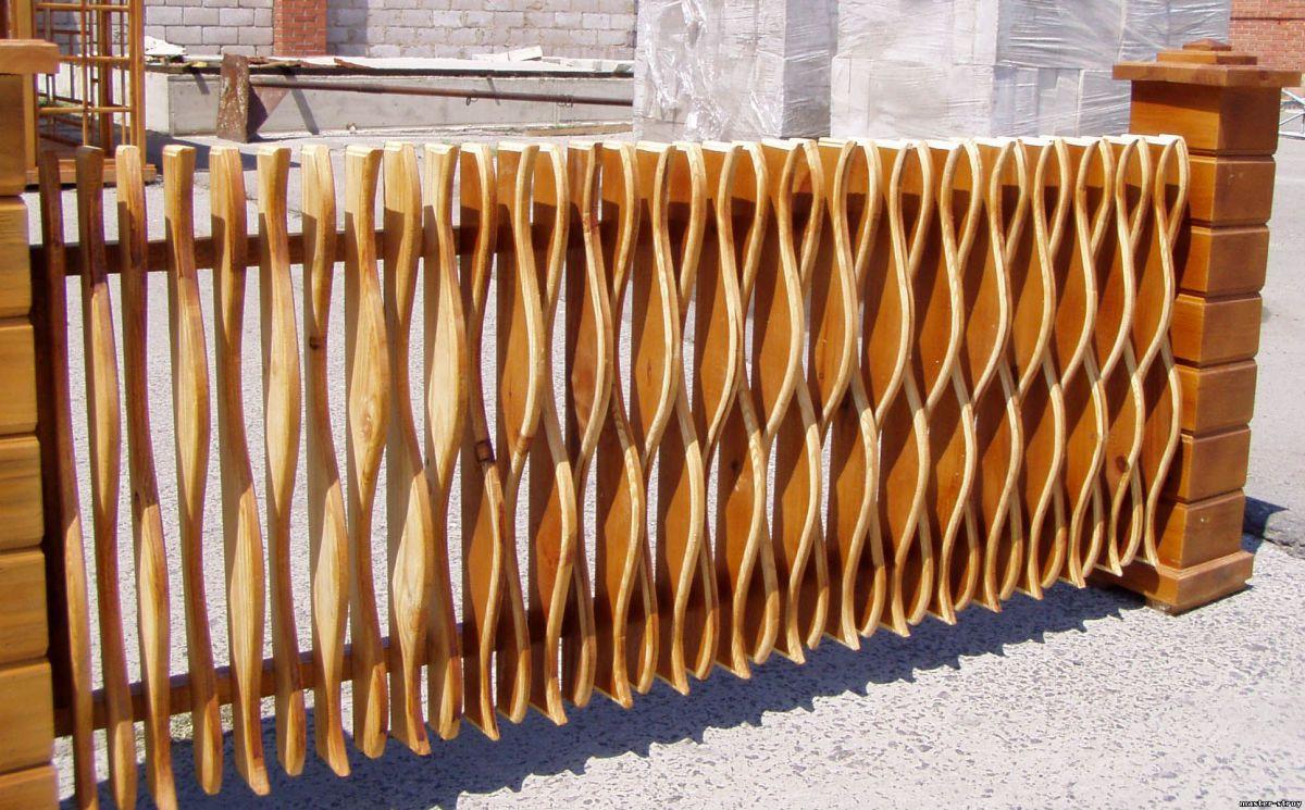 Деревянный забор 5334