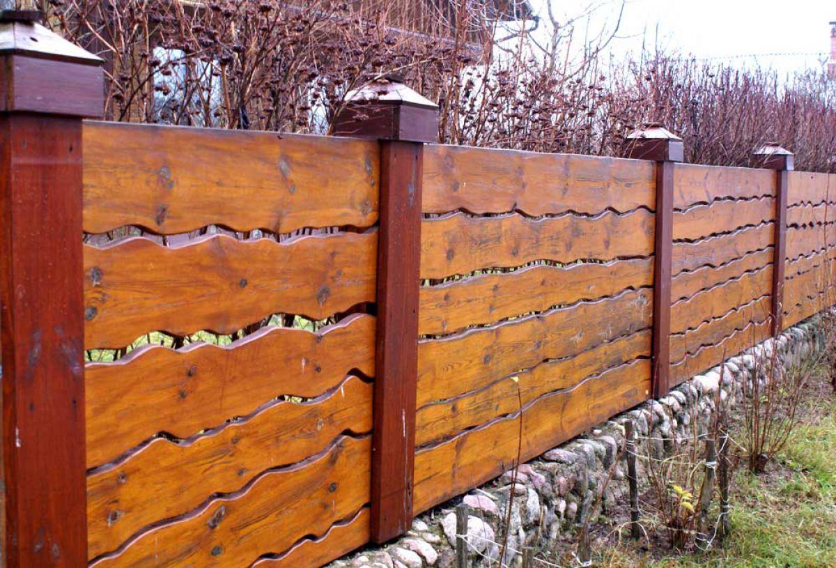 Деревянный забор 5341