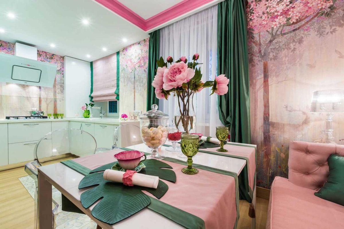 Розовый цвет в интерьере 5345