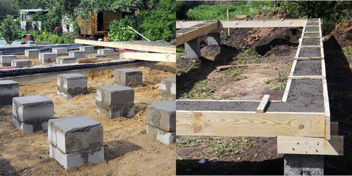 Столбчатый фундамент для каркасного дома 5720