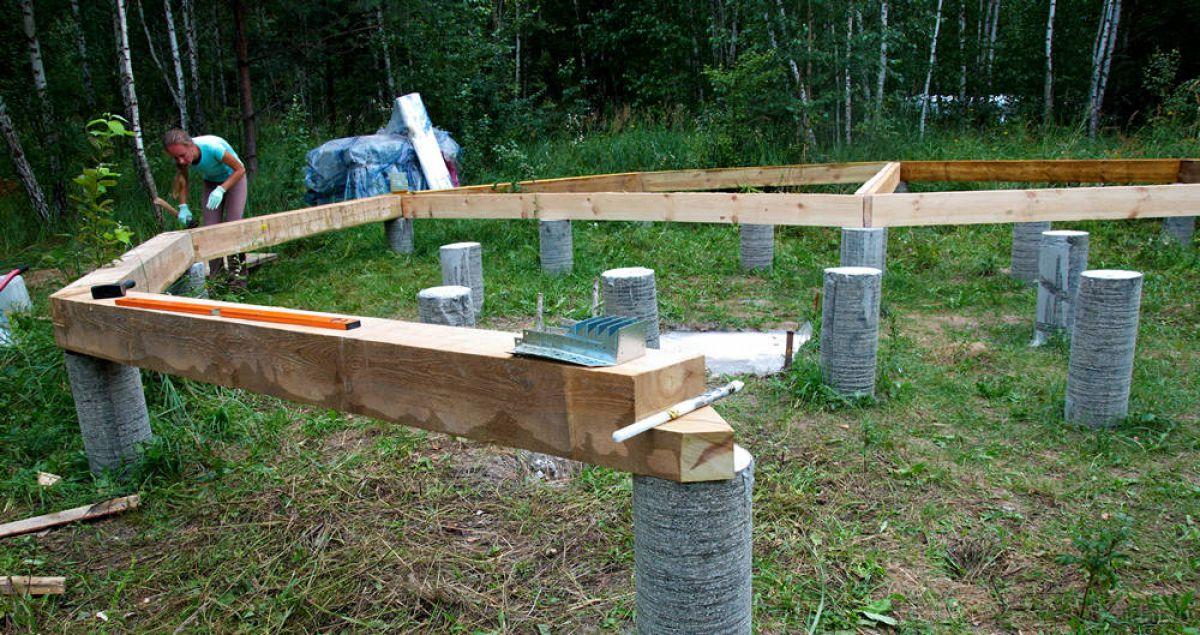 Столбчатый фундамент для каркасного дома 5725