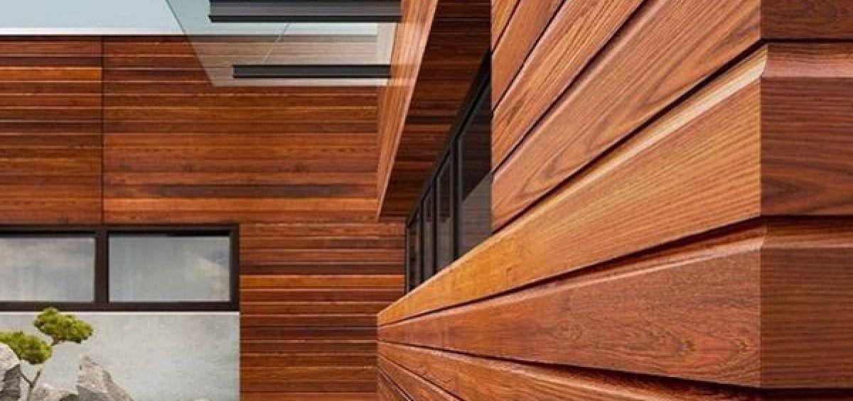 Обшивка дома деревянным сайдингом 5767