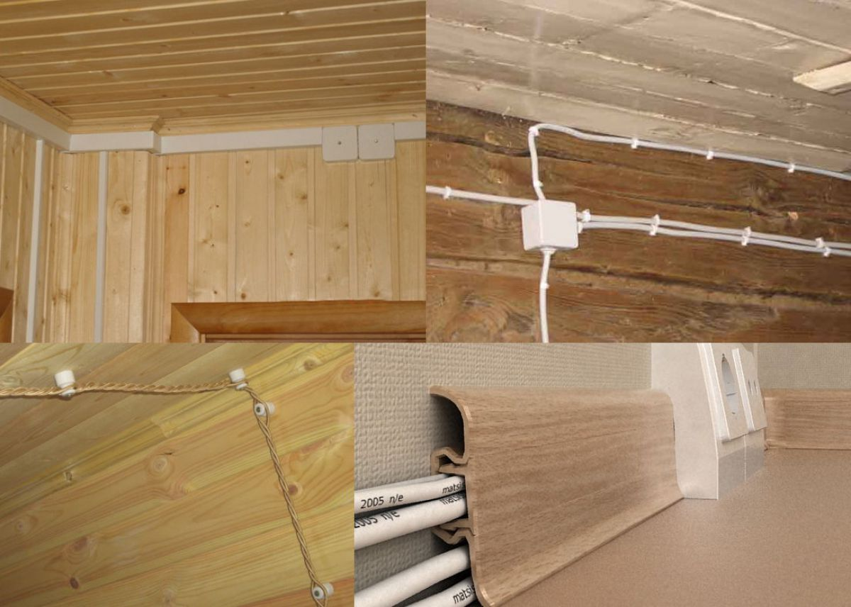 Проводка в деревянном доме 5828