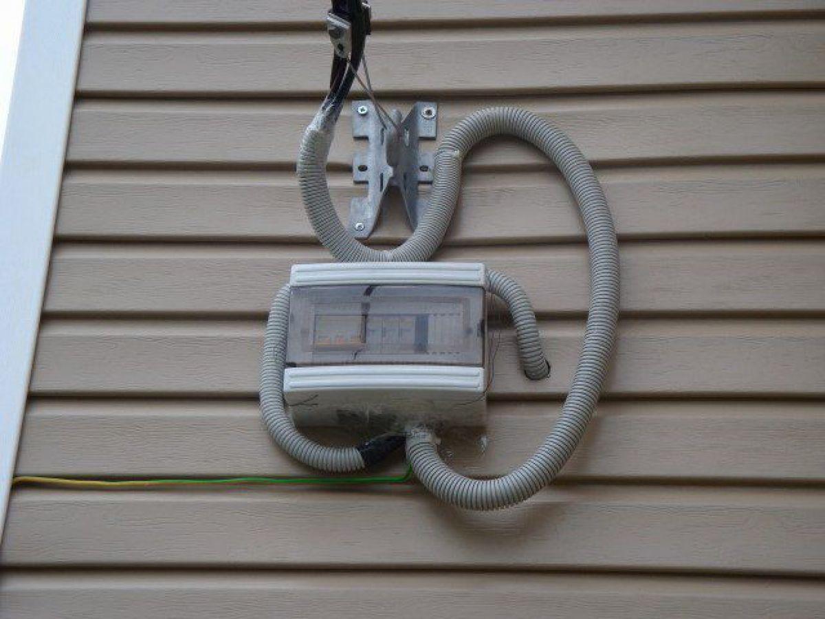 Ввод электричества в дом проводом СИП 5881