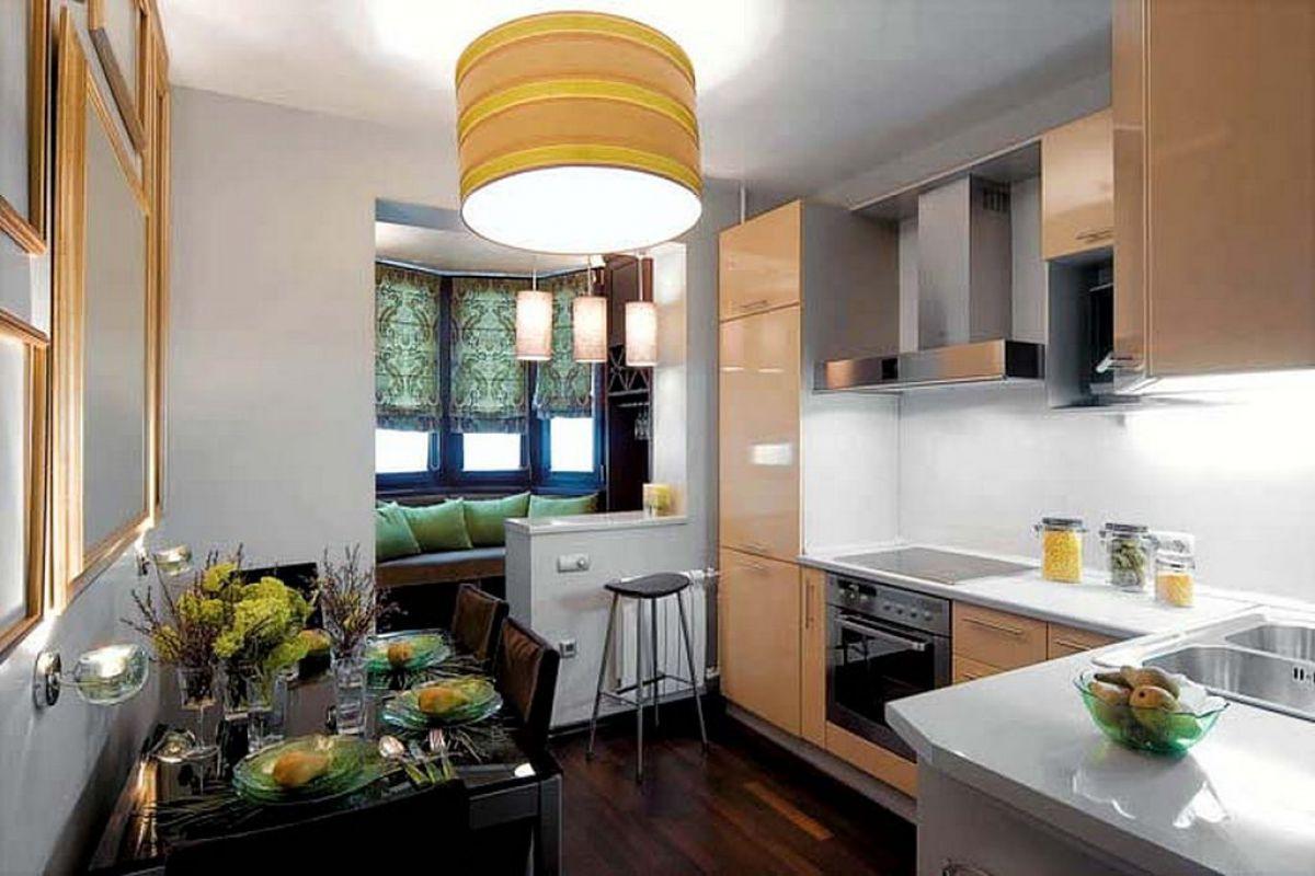 Объединение кухни с балконом 5994