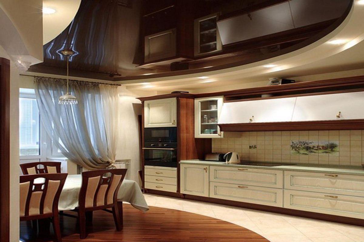 Потолок на кухне 6055