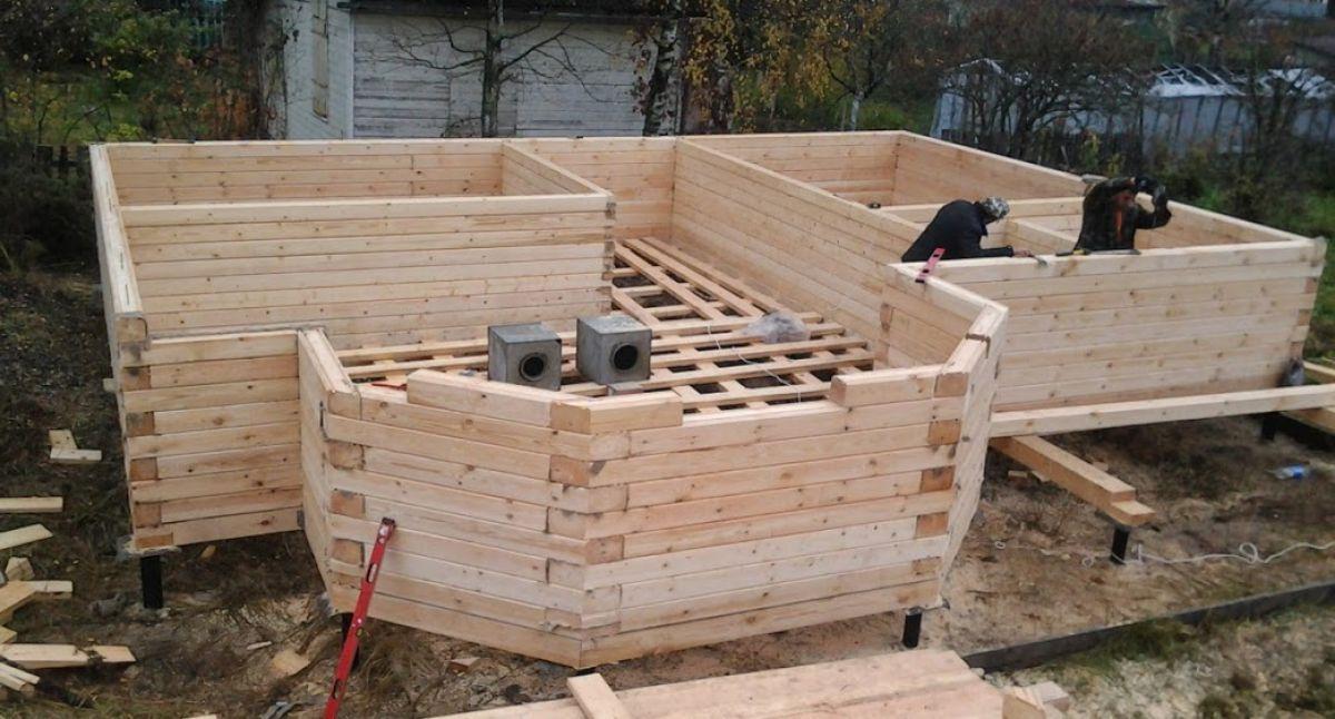 Строительство бани из бруса 6163