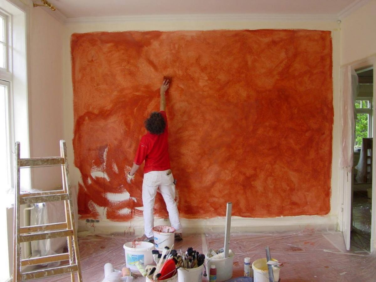 Покраска декоративной штукатурки 6214