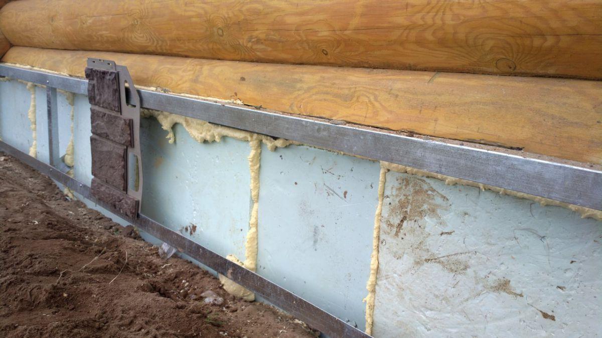 утепление свайного фундамента дома снаружи пенополистиролом