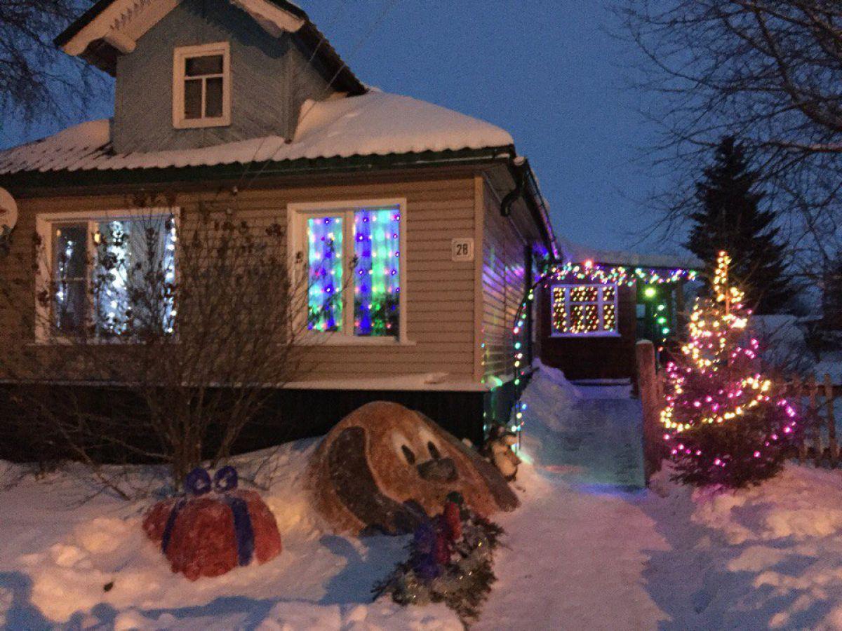Новогоднее оформление дома 6709